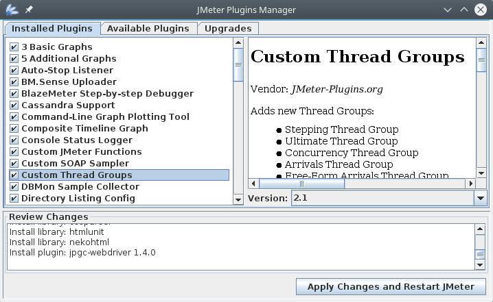 jmeter plugin diaolg