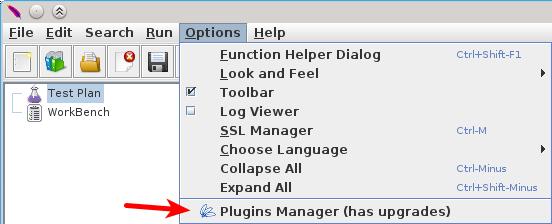 jmeter plugin manager